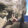 escalando en una nueva zona gallega