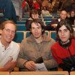Los conferenciantes del III Salón de Vic 2003. De izquierda a derecha