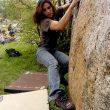 Berta Martín en acción sobre el granito de Targassone. Foto: Archivo Desnivel...  (desnivel)