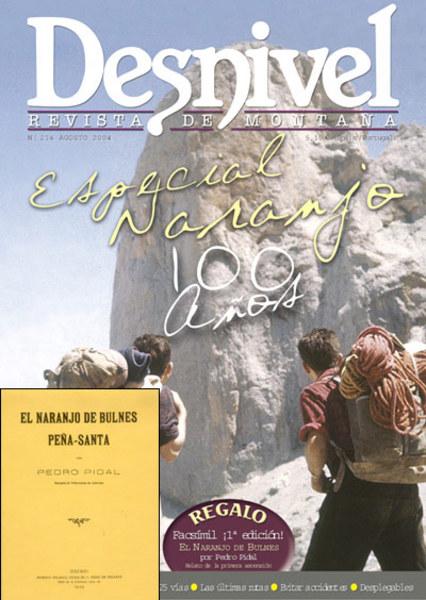 Portada de la revista Desnivel nº214. Alberto Rabadá y Ernesto Navarro ante la Oeste del Naranj... (desnivel)