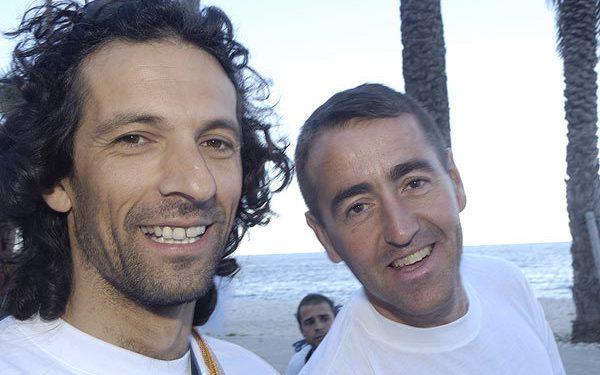 Roy de Valera (izquierda) y Miguel Cebrián en una edición anterior de las 12 horas Peñón Ifach. Foto: desnivelpress.com  (Darío Rodríguez/Desnivel)