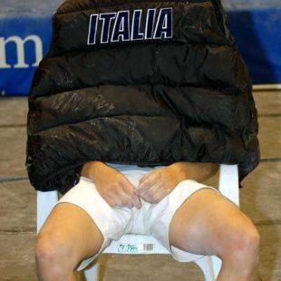 La italiana Jenny Lavarda lamentándose de su actuación en uno de los bloques.Foto: J.Jimén...  (desnivel)