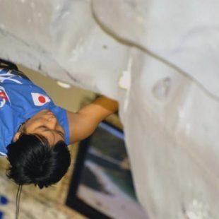 La japonesa Yuka Kobayashi en los cuartos de final del IX Campeonato del Mundo de Dificultad
