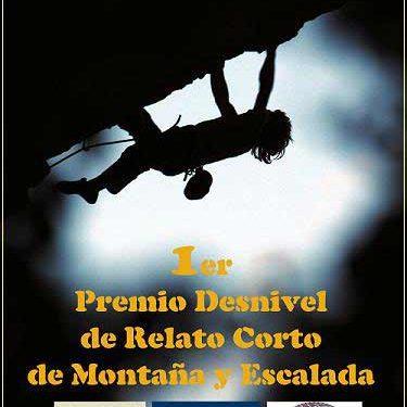 Cartel promocional del I Concurso de Relato Corto de Montaña y Escalada patrocinado por Desnivel.com. (desnivelpress.com)