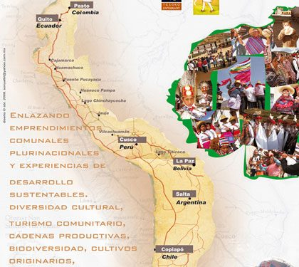 Cartel promocional del proyecto 7.000 km a pie por el Qhapaq Ñan.  (Cortesía de Sonia Bermúdez)
