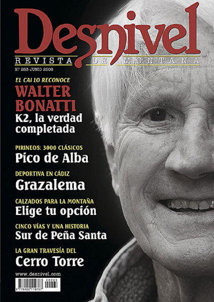Portada de la revista Desnivel nº263. Walter Bonatti ha visto en 2008 reconocida la verdad sobre...  (desnivel)