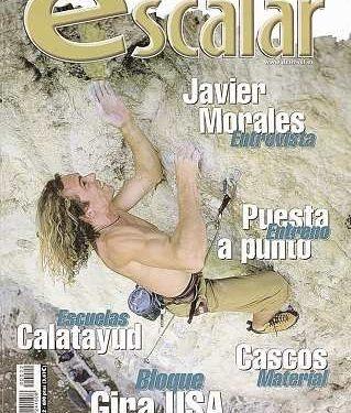 Javier Morales en Otiñar. Portada revista Escalar nº 22  ()