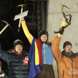 Ice Climbing World Cup 2010. Rumania.Ice Climbing World Cup 2010. Rumania.  ()