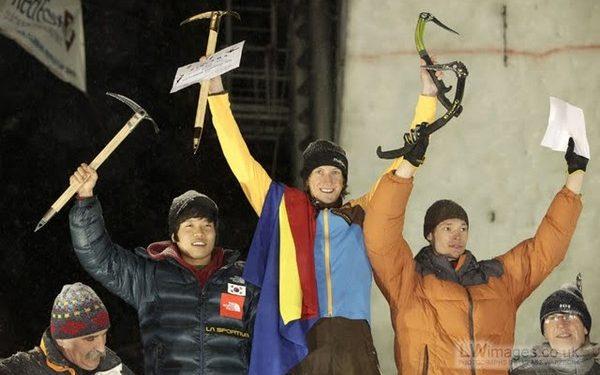Ice Climbing World Cup 2010. Rumania.Ice Climbing World Cup 2010. Rumania.  ()