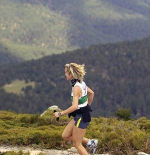 Yolanda Santiuste entrenando en la Sierra de Guadarrama  ()
