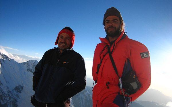 Con Iván Vallejo en el Nanga Parbat  (Col. Iván Vallejo)