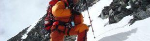 En plena ascensión al Lhotse (Col. Xavi Arias)