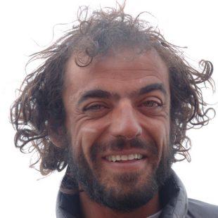 Carlos Pauner. Campo base del G2 (verano 2004) (Darío Rodríguez)
