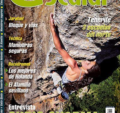 Portada de la revista Escalar nº70. Daila Ojeda en la vía Ultime (8b+) de Gorges de la Durbie (...  (desnivel)