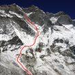 Itinerario seguido por Tosas en la cara sur del Lhotse  (Jordi Tosas)
