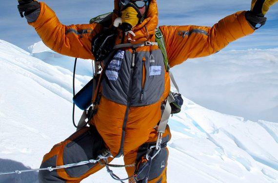 Polar Explorer Eric Larsen en la cima del Everest  (Eric Larsen)