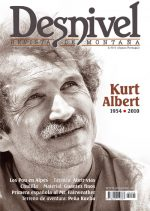 Portada de la revista Desnivel nº292. Kurt Albert nos dejó tras un fatal accidente en Baviera..... (Darío Rodríguez)