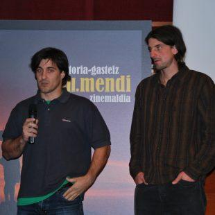 Dean Potter y Carlos Suárez en la presentación del proyecto del Asgard  (Organización)