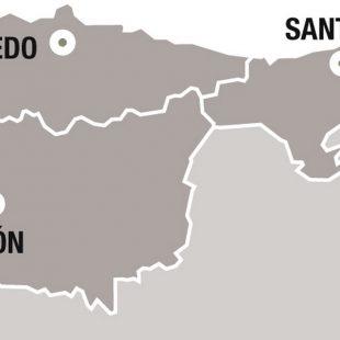 Mapa de la situación de Picos de Europa en España  (Darío Rodríguez/Desnivel Press)