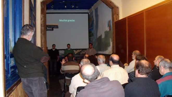 Turno de preguntas y coloquio de la conferencia Patrimonio Subterráneo de la Comunidad de Madrid.  (GEGET)