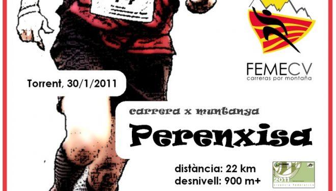 Cartel de la primera prueba del Circuito Valenciano de carreras por montaña  (FEMECV)