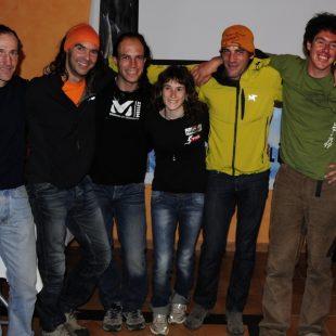 "Reunión GAME invernal 2011 entrega premios FEDME 2010. Josep Maria Esquirol y David Palmada ""Pelut"""