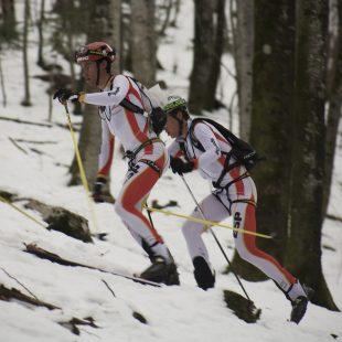 Los vencedores de la prueba por equipos: Denis Trento y Matteo Eydallin