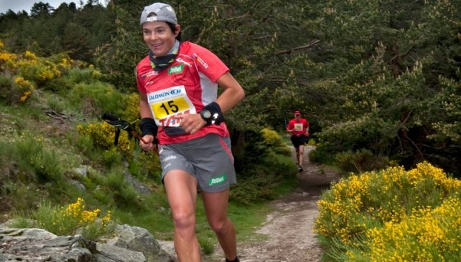 Mónica Aguilera en plena carrera (Sergio Prieto)