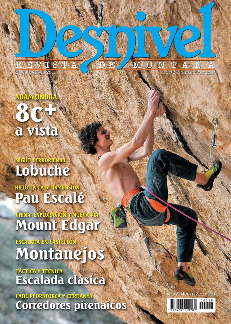 Portada de la revista Desnivel nº298 (abril 2011) en ALTA  ()