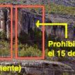 Prohibición total en el sector Piscinas y restricción hasta el 15 de junio en la parte izquierda de Rincón de la Ermita.  (© Yaz)