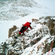 Luis abriendo ruta a 6.600m en el Gasherbrum 1  (ABC Team)