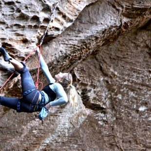 Sasha Digiulian en Red River Gorge  (Col. S. Digiulian)