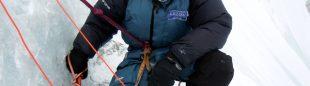 Álex Txikon picando para la plataforma del C-1. Gasherbrum 1 invernal.  (ABC Team)