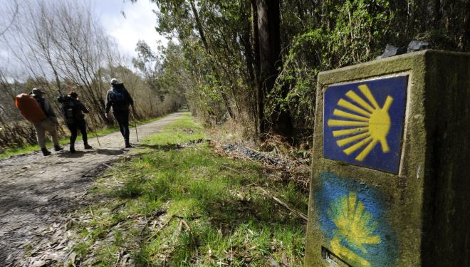 Camino de Santiago. Entre Sobrado dos Monxes y Arzúa