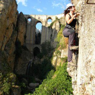 La vía ferrata del Tajo de Ronda se encuentra en en un paraje magnífico.  (Jesús Olvera)