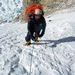 Primeros largos de Álex Txicon en la ruta en la cara Sur. Gasherbrum 1 invernal