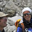 Campo base del Everest 2011. Damián Benegas y Edurne Pasaban.  (©Darío Rodríguez 2011)