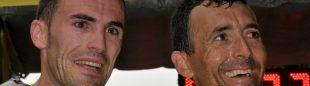 Iker Carrera y Miguel Heras juntos en el podio de la Tranvulcania 2011  (Tranvulcania)