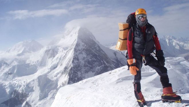 Alberto Zerain en el descenso del K2 (2.008)