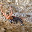 Patxi huyendo de las oscuras profudidades de la cueva de Baltzola