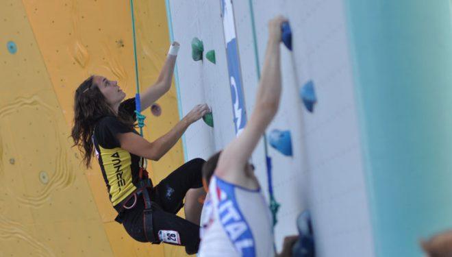 Paula De La Calle Pizarro. Campeonato del Mundo 2011 en Arco. Paraclimbing  (Giulio Malfer)