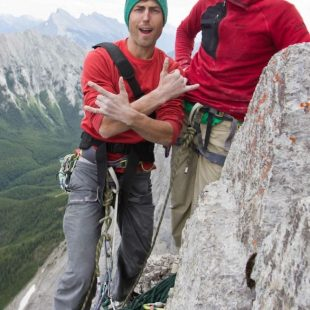 Sonnie Trotter y Tommy Caldwell tras encadenar The shining en el Mt. Louis (Rocosas Canadienses)  (Sonnie Trotter)