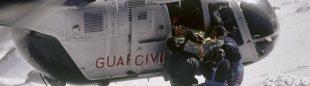 Rescate de un montañero herido en el glaciar del Aneto.  (Desnivelpress.com)