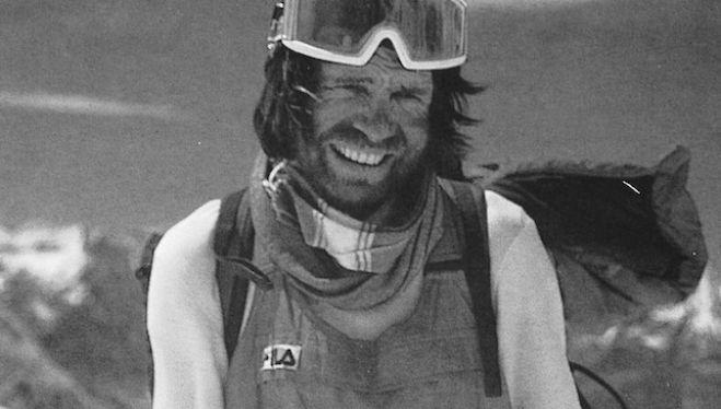 Reinhold Messner después de ascender el Lhotse