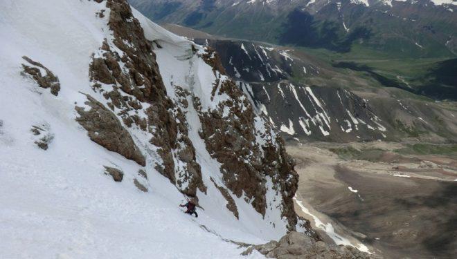 Ascendiendo la ruta Electro shock blues al Pik Oibala (Pamir Alai