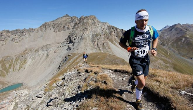Miguel Caballero en la Gore-Tex Transalpine Run. 4ª etapa.  (Org.)