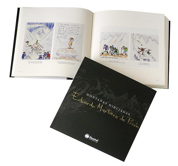 Montañas dibujadas.  por Eduardo Martínez de Pisón. Ediciones Desnivel