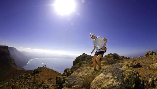 Los corredores se enfrentaron a tramos técnicos en el último sector del recorrido.  (Estrella/Haría Extreme 2010.)