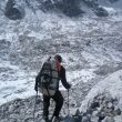 Camino del glaciar en el primer porteo de la expedición de Chad Kellogg y David Gottlieb al Pangbuk Ri  (Col. C. Kellogg)