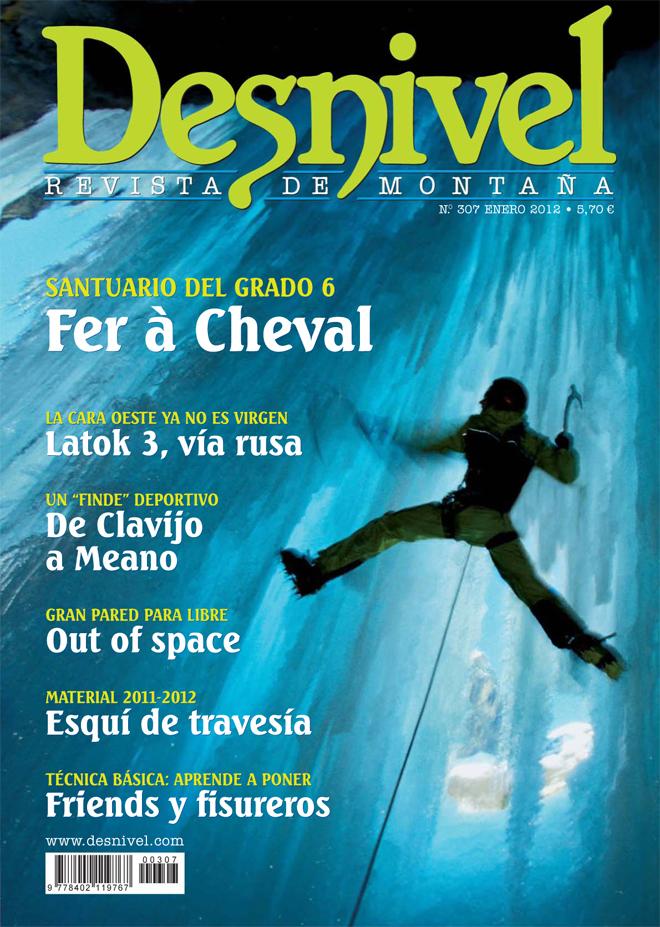 Portada de la revista Desnivel nº307 (enero 2012) en ALTA  ()